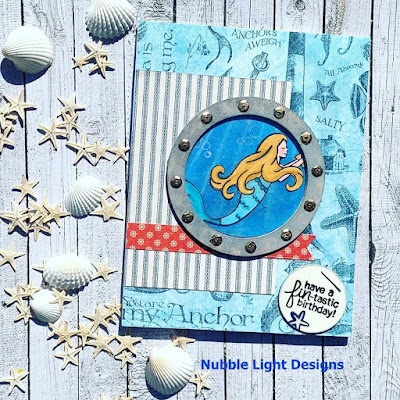 Mermaid Crossing by Priscilla features Mermaid Crossing by Newton's Nook Designs; #newtonsnook