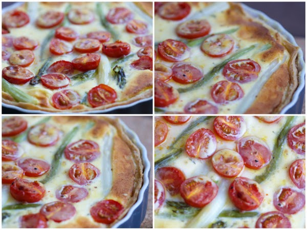 Spargeltarte Tarte Spargel Tomaten