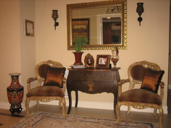 beautiful Tuscan style furniture with mirror