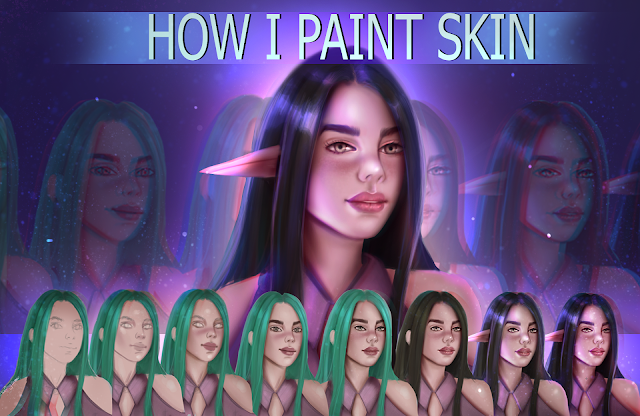 How I Paint Skin - Digital Painting Tutorial