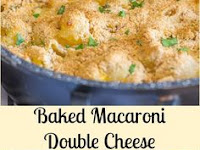 Baked Macaroni Double Cheese Recipe