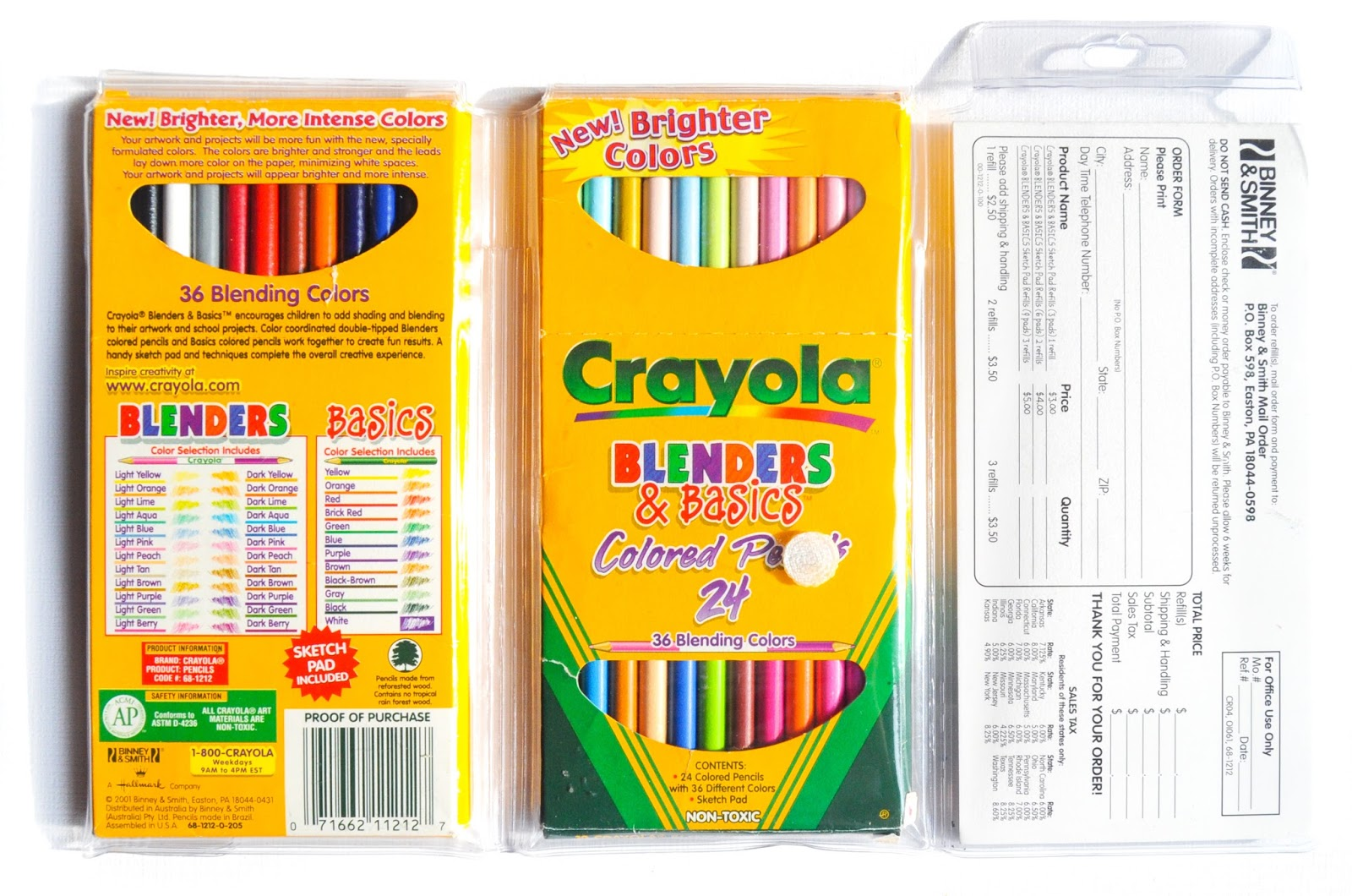 Crayola Blenders And Basics Colored Pencils What S Inside