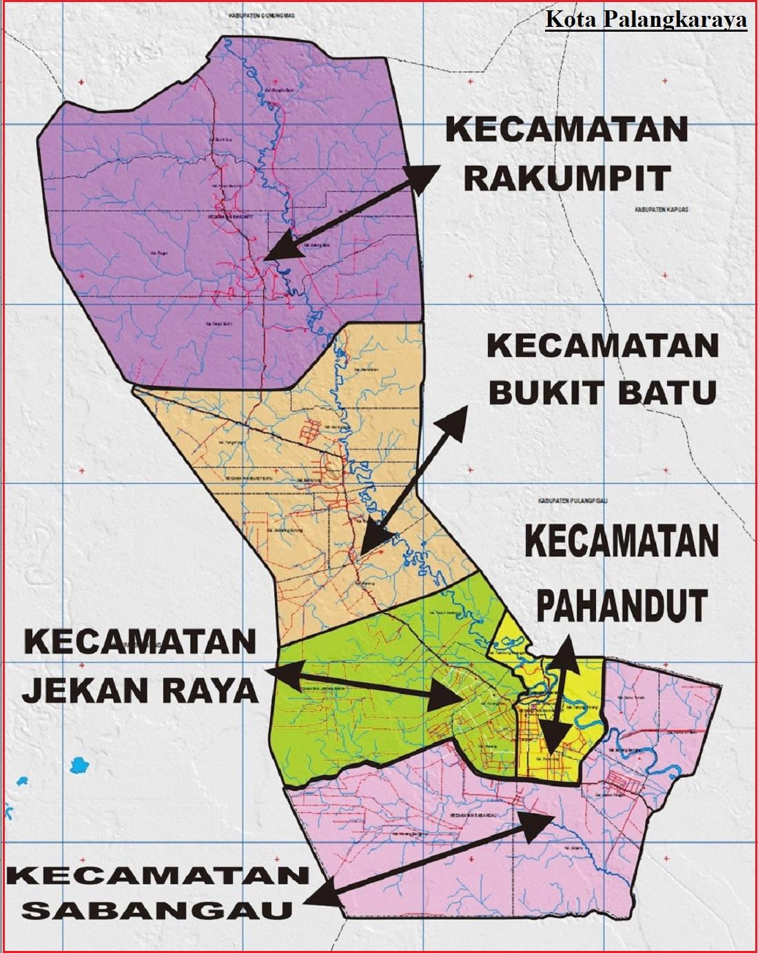 Peta Kota Palangka Raya