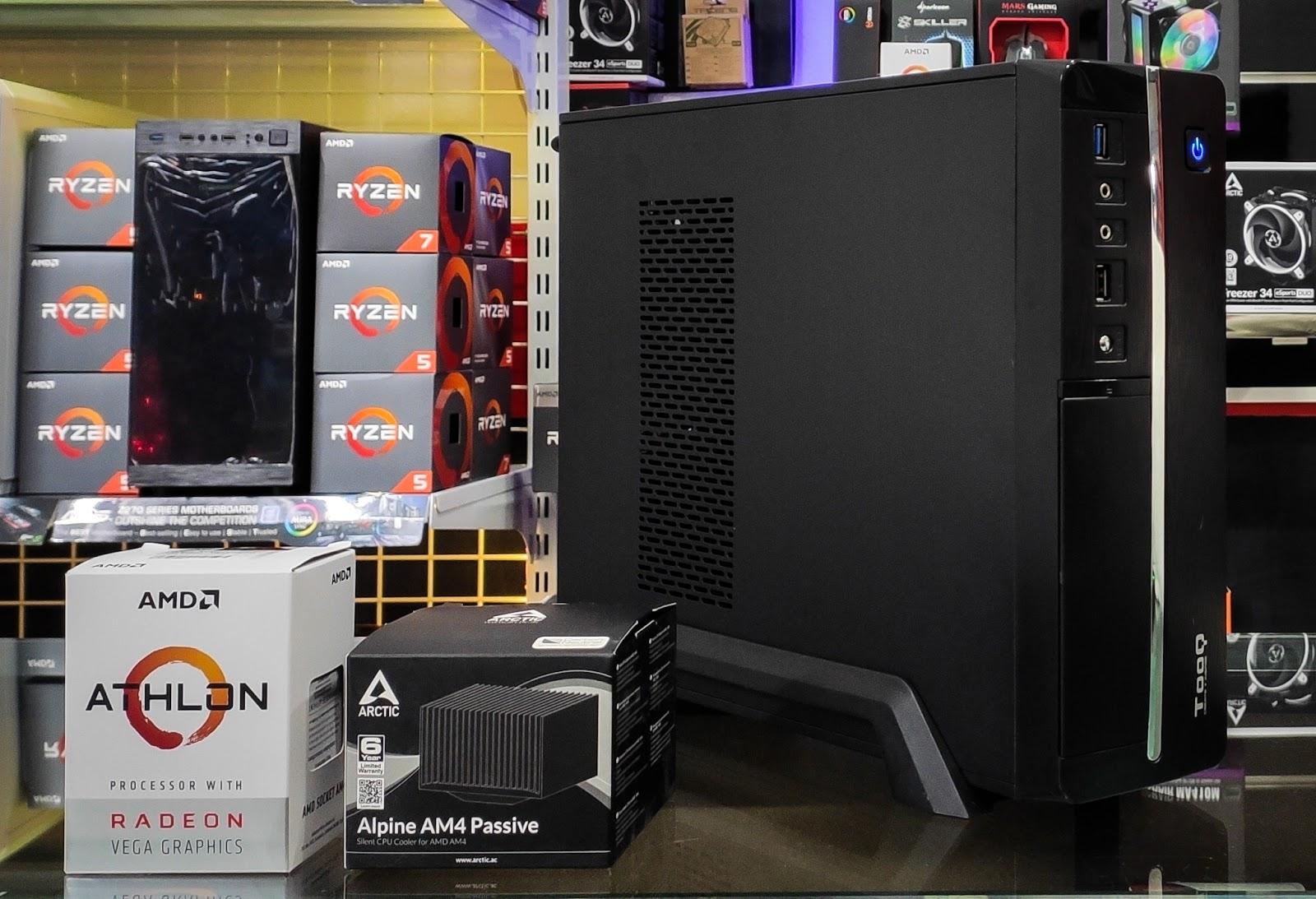 Fanlesstech Athlon 3000g Build
