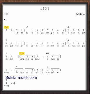 not angka lagu 1234