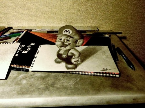 16-NAGAI-HIDEYUKI-Hide-永井-秀幸-3D-Pencil-Drawings-www-designstack-co