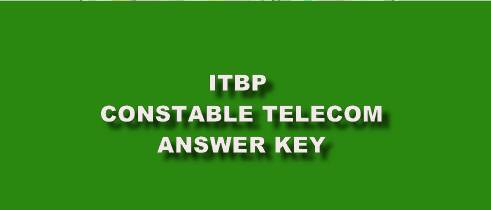 [Download Link] ITBP Constable Telecom (CT) Answer Key OUT!! || Exam Result