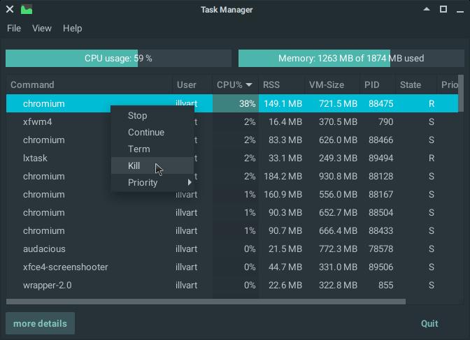 Screenshot Task Manager