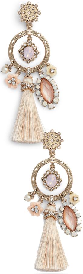 MARCHESA Tassel Chandelier Earrings