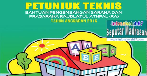 Download Segera Juknis Bantuan Sarpras Kemenag RI untuk RA/Madrasah Tahun 2016