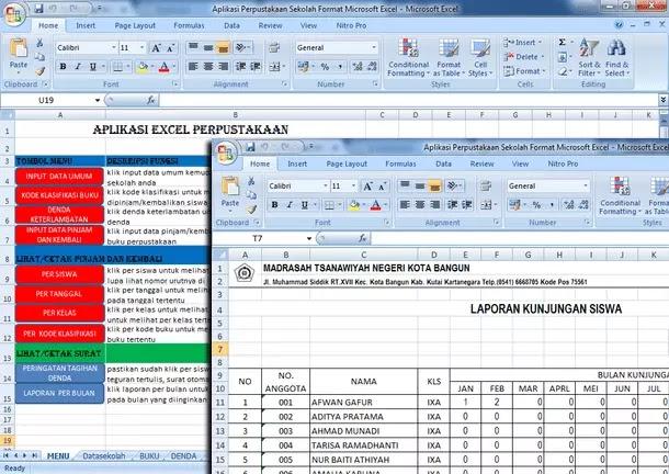 Aplikasi Perpustakaan Sekolah Format Microsoft Excel Download Gratis Berkas Edukasi