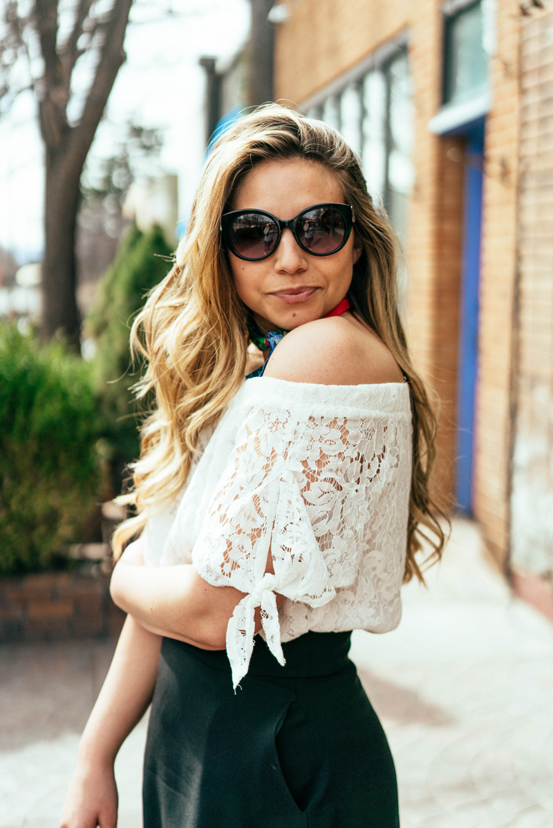 parisian style, spring style, ruffle outfit