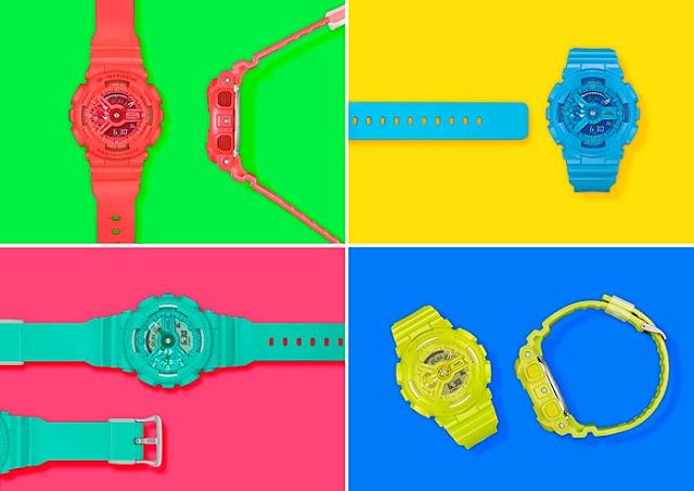 Jam Tangan Casio G-Shock GMAS110VC Tersedia Dalam 4 Varian Warna
