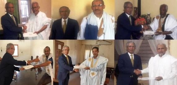 Ministro de Asuntos Exteriores saharaui se reúne con líderes de partidos políticos mauritanos en el marco de las relaciones bilaterales entre el Frente Polisario y las fuerzas políticas de Mauritania.