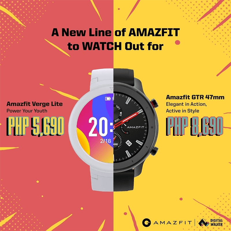 Amazfit Verge Lite, GTR with over 20-day battery life launched in the Philippines!