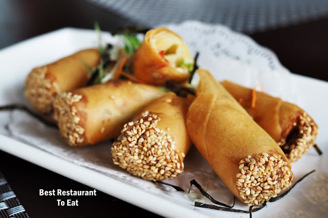 Dim Sum Buffet Menu - Classic Fried Spring Roll Vegetables Chicken & Cheese