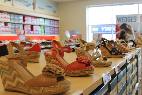 colorful vintage style summer wedges at famous footwear