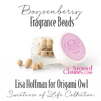 LISA HOFFMAN FOR ORIGAMI OWL SWEETNESS OF LIFE BOYSENBERRY FRAGRANCE BEADS available at StoriedCharms.com