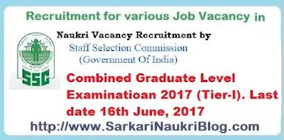 SSC Combined Graduate Level Examination 2017