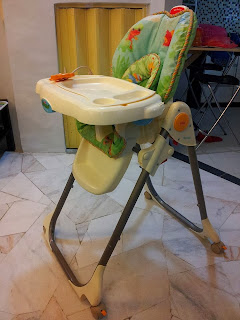 fisher price rainforest healthy care high chair 2 refinish outdoor rocking baby preloved stuffs sold attached teething toys