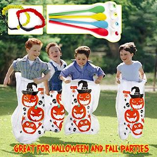 halloween games sack race