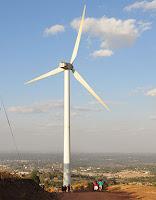 Ngong Hills wind farm just outside of Nairobi, Kenya. (Photo Credit: Grace Wu) Click to Enlarge.