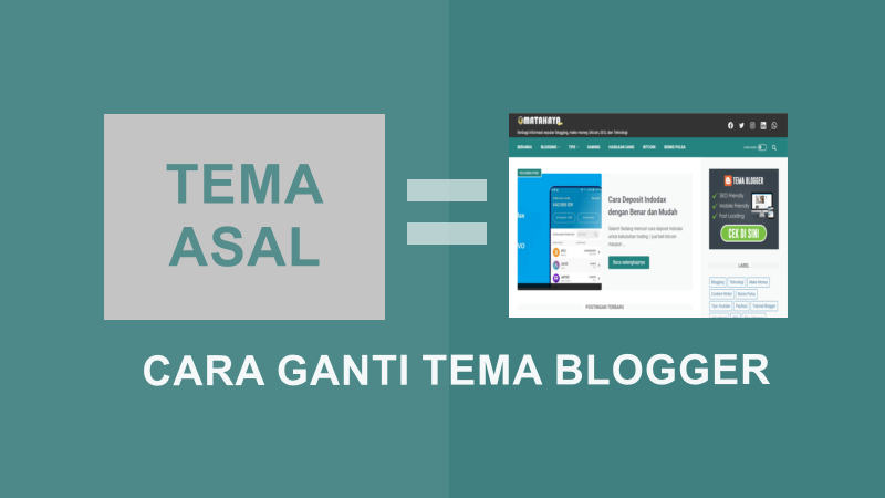 cara ganti tema blogger