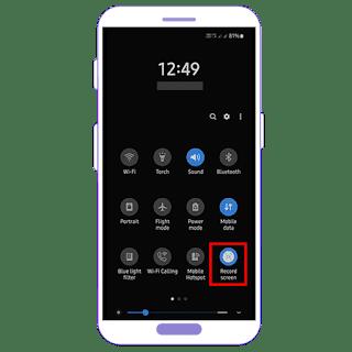 Rekam Layar pada Samsung Galaxy A21