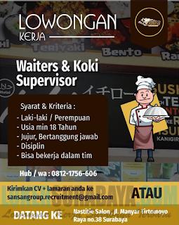 Lowongan Kerja Terbaru di Sansangroup (Ichiro) Surabaya Terbaru April 2019