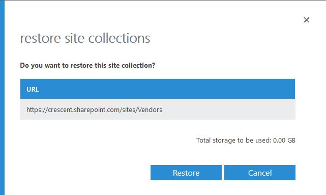 sharepoint online powershell restore deleted site