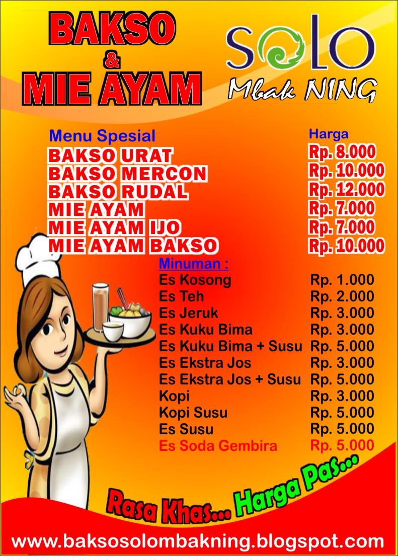 Contoh Brosur Mie Ayam Usa Momo