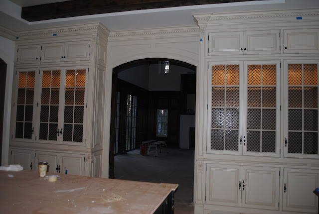 during construction image of Enchanted Home Tina's French Country kitchen