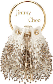 Jimmy Choo Bon Bon beaded satin evening bag #brilliantluxury