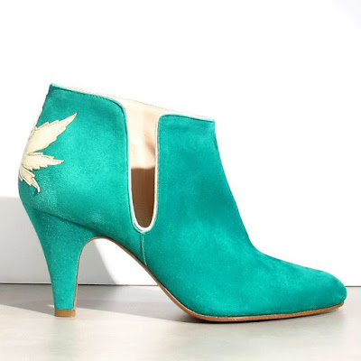 soldes Patricia Blanchet boots daim vert