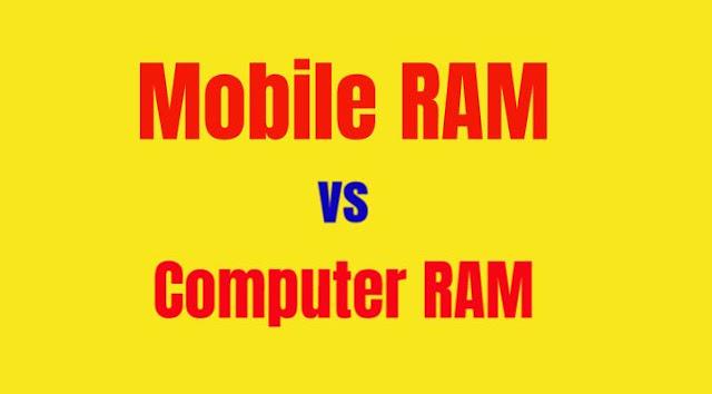 computer ram vs mobile ram in hindi