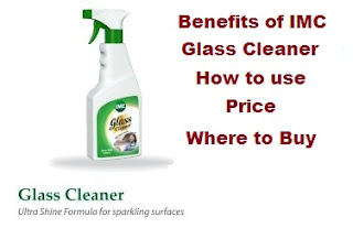 imc glass cleaner benefits