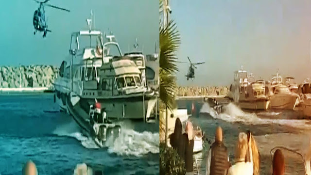 Video; Así fue la persecución en helicóptero a una narcolancha en el Puerto de la Duquesa