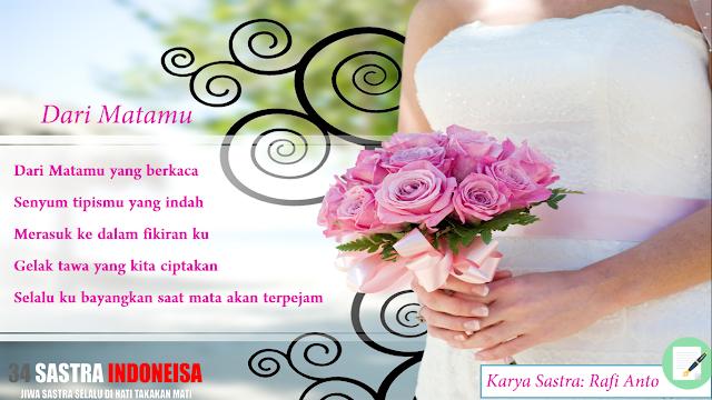 Puisi cinta (Dari Matamu) | 34 Sastra Indonesia