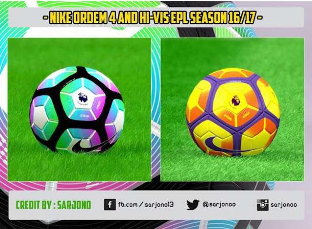 PES 2016 Nike Ordem 4 & Hi-Vis EPL Ball Season 2016/2017