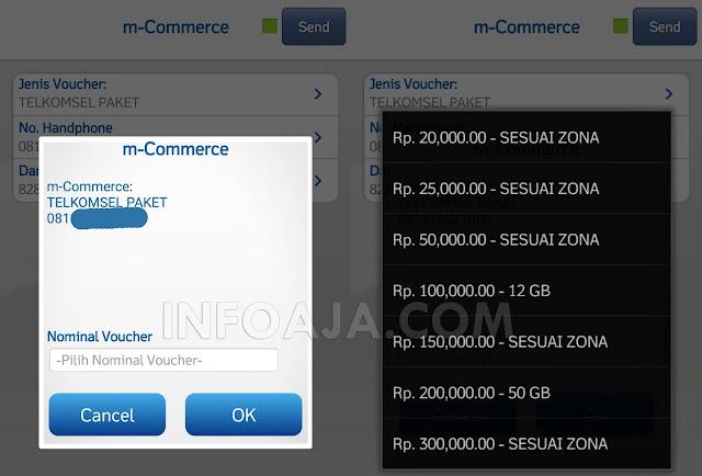 Beli paket data dari bca mobile