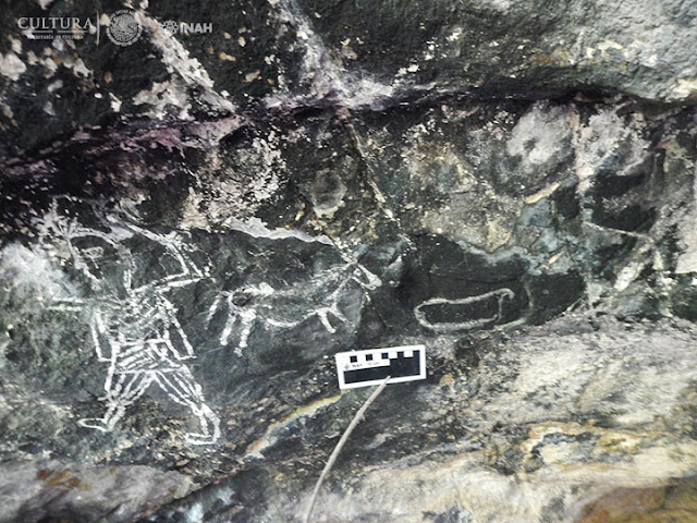 Earliest depictions of Spanish conquerors discovered on walls of remote Mexican caves