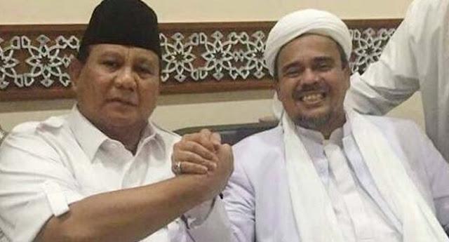Prabowo: Habib Rizieq Bisa Memberi Kesejukan Buat Bangsa Ini