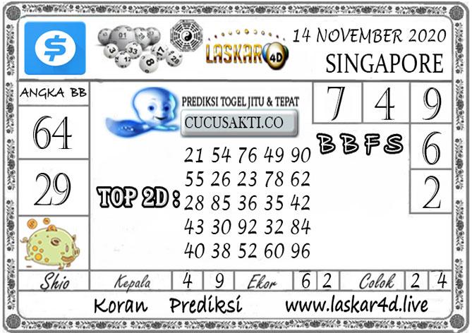 Prediksi Togel SINGAPORE LASKAR4D 14 NOVEMBER 2020