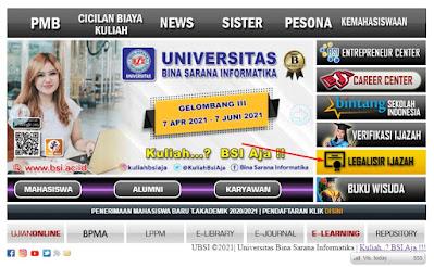 Legalisir Ijasah Universitas BSI
