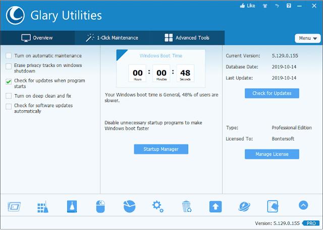 Screenshot Glary Utilities PRO 5.129.0.155 Full Version
