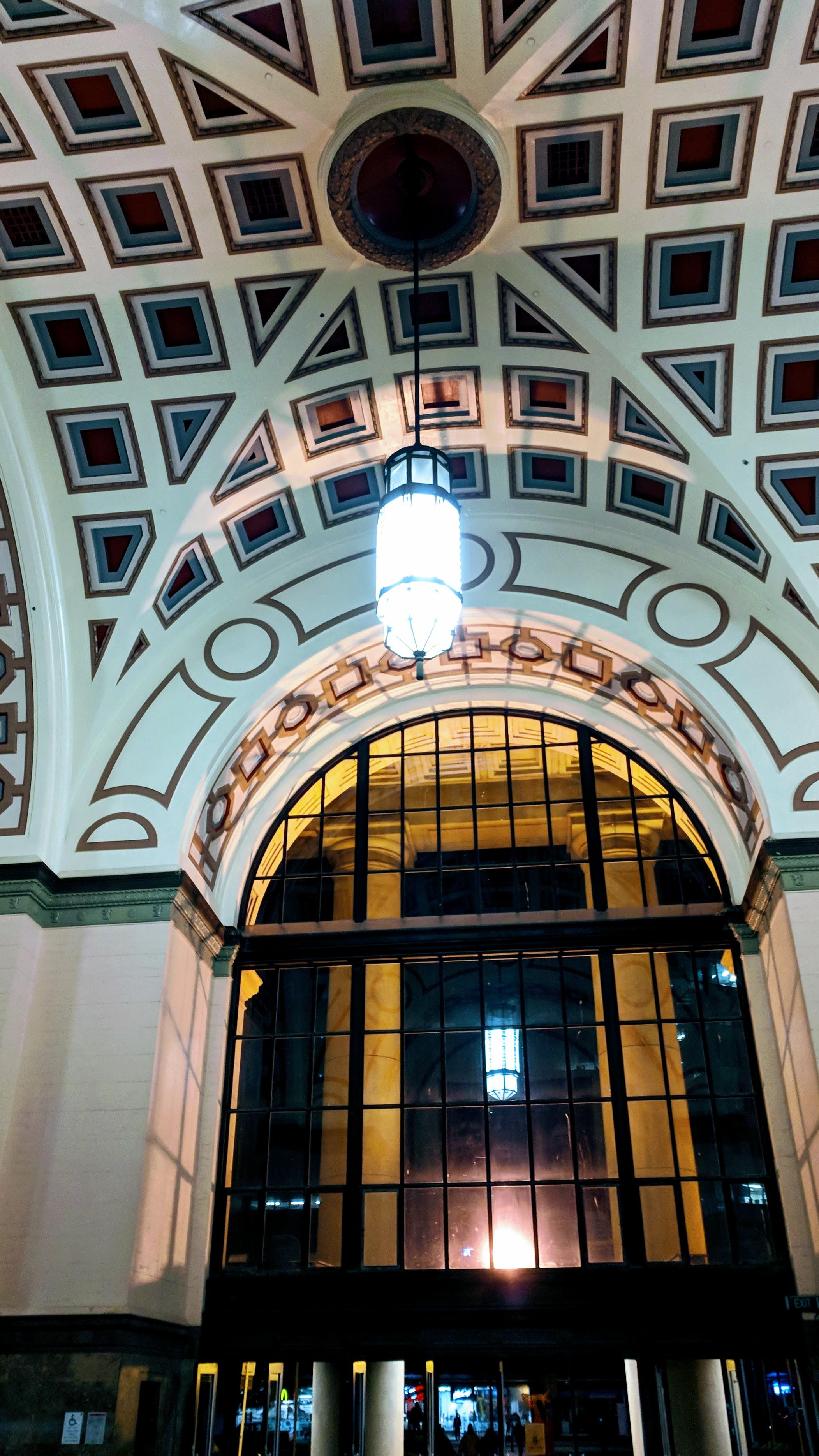 Entrance hall to Wellington Railway Station