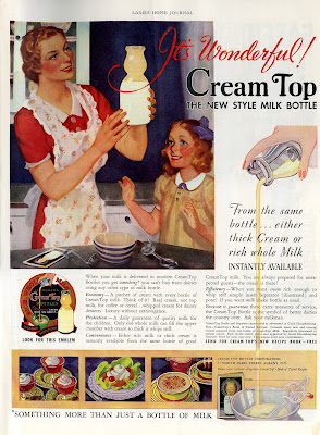 Cream Top Milk Bottle