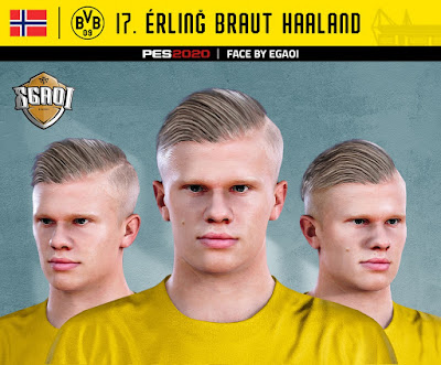 PES 2020 Faces Erling Braut Håland by EgaOi