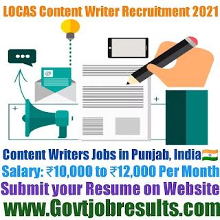 LOCAS Content Writer Recruitment 2021-22