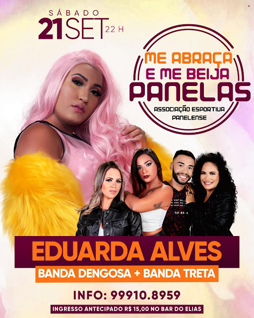 Vai ter festa, me abraça e me beija Panelas, show com Eduarda Alves